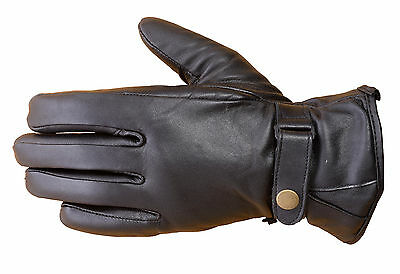 Premium Lambskin Unisex Winter Driving Dress Fashion Gloves Black FG2