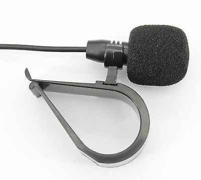 3.5 Jack Microphone with Clip for Handsfree Bluetooth Kenwood Alpine Car Stereos