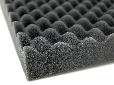2 Large Acoustic Foam Sound Treatment Tiles Studio Room Sound Proofing 1m² 20mm