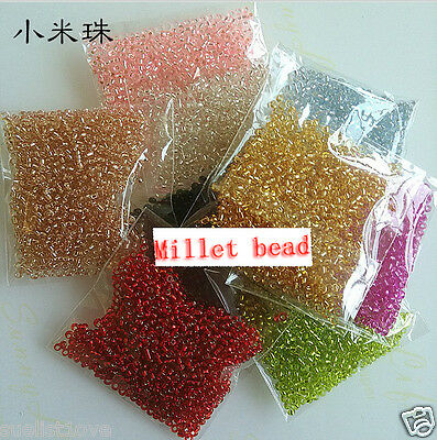 wholesale silver lined glass SEED BEADS jewelry making multi COLOUR 1000 pcs
