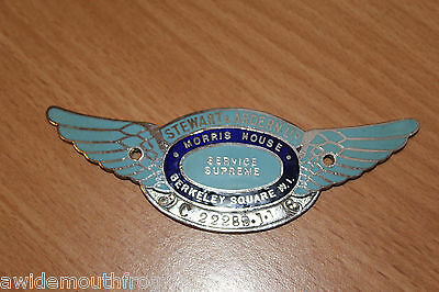 Stewart & Arden Pre War Dashboard Suppliers Badge Plaque Morris Vehicles