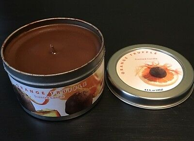 Home Interior Orange Truffle Candle In Tin