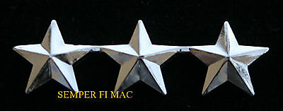 Two 2 Three Star Lt General Us Marines Collar Hat Pin Officer Fmf Mar Div Maw