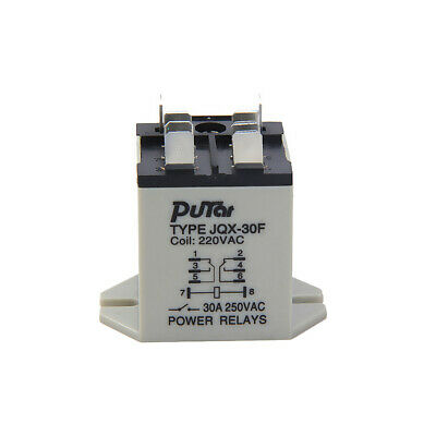 JQX-30F 30A 8-pins Plug-in Plastic Power Relay Coil 220V AC -25 to 55 deg C