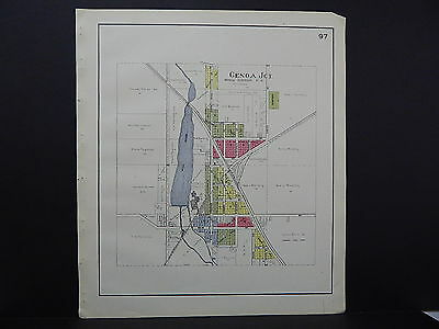 Wisconsin, Walworth County Map, 1921 City of Genoa Junction L21#11