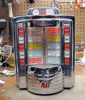 AMI WALLBOX JUKEBOX MODEL W120 - RESTORED and RECHROMED - STOCK #5208