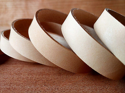 "46"" STRAPS NATURAL VEG TAN COWHIDE 1.5mm or 2mm TUSCANY LEATHER VARIOUS WIDTHS"