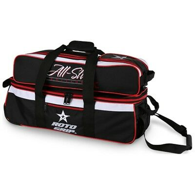 Roto Grip BLACK/RED 3 Ball Roller/Tote Bowling Bag
