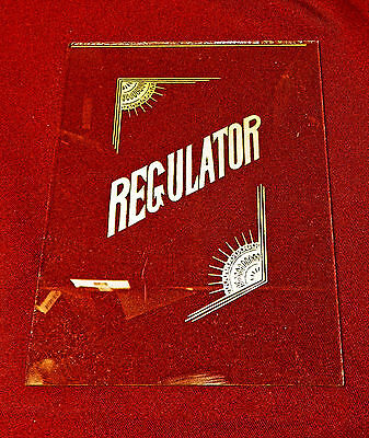 Regulator Wall Clock Door Glass NEW Reproduction For Antique Vintage 8 x 6 Inch