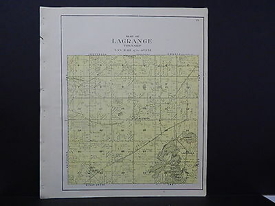 Wisconsin Walworth County Plat Map Lagrange Township 1921 K19#60