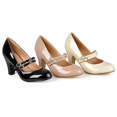 Journee Collection Womens Wide Width Mary Jane Pumps New