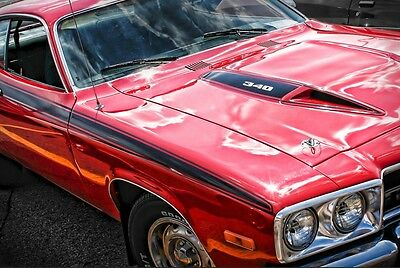 1974 Plymouth Road Runner Photo Art Print Poster 13x19 340 Mopar '74 Mancave GTX