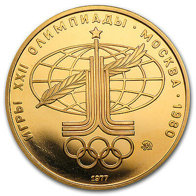 1980 Russia Gold 100 Roubles Olympic BU/Proof (Random) - SKU #52172