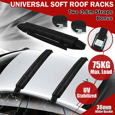 2x New Car Soft Roof Racks Kayak Canoe Surfboard Ski SUP Snow Board Mount Holder