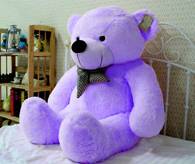 New Coming Giant 100cm Purple Plush Teddy Bear Huge Soft 100% Cotton Doll Toy