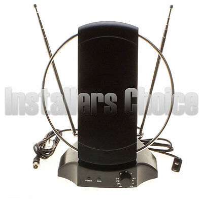 INDOOR Digital TV ANTENNA 50+ Mile HDTV UHF VHF 36DB Signal Booster
