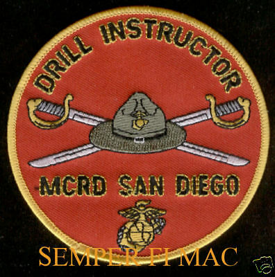 Us Marines Drill Instructor Mcrd Patch Di San Diego Ca Campaign Cover Swords Wow