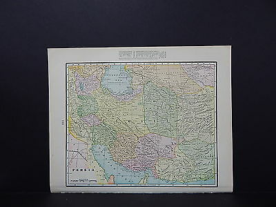 Map of Persia George F. Cram 1899 Double-Sided s5#09