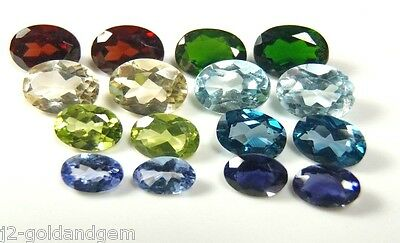 NATURAL GEM COLLECTION/PARCEL LOT 10.2ct Iolite,Diopside more,resale,gift