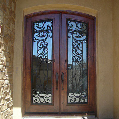 "Stunning, Hand-Carved, Solid Wood Doors by Monarch Custom Doors 72"" x 97"""