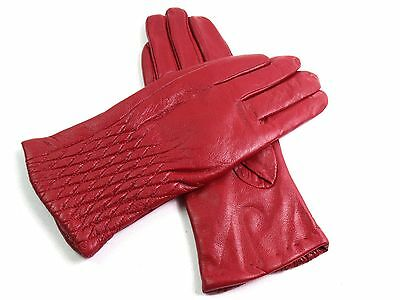 Ladies Womens Premium Quality Genuine Soft Leather Gloves Fully Lined Warm