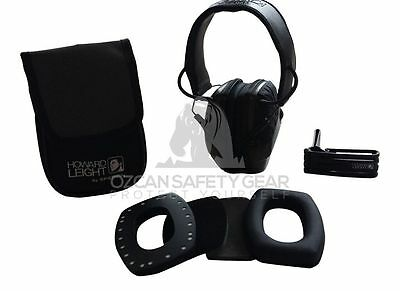 Howard Leight Impact Sport Electronic Earmuff Pack Shoot Tool w/KIT POUCH CLIP