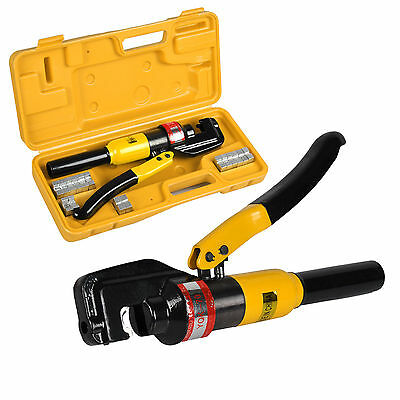 4mm-70mm 8 Ton Force Hydraulic Crimper Cable Wire Crimping Tool Kit 9 Die