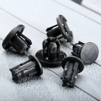 50X Car Bumper Fender Plastic Rivets Fasteners Clip Black 10mm Hole for Toyota