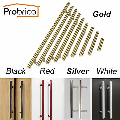 Colored T Bar Stainless Steel Kitchen Cabinet Door Handle Drawer Pull with Screw