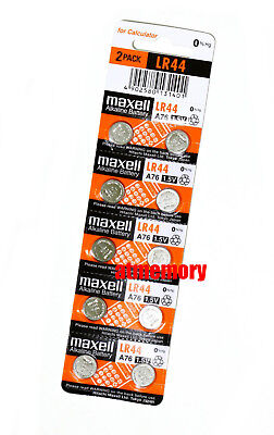 Maxell LR44 1.5V Alkaline Battery A76 303 357 L1154 AG13 SR44 x 10pcs Genuine