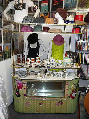 VINTAGE COCKTAIL BAR, GENUINE NOT A REPRO, CIRCA 1960's, HAS LIGHTS IN CABINET