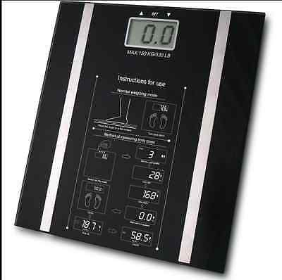 L-Living Body Fat Composition Sensor Monitor BMI Home Bathroom Weighing Scale