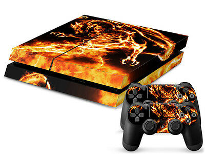 Sony PS4 Playstation 4 Skin Design Aufkleber Schutzfolie Set - Dragon Motiv