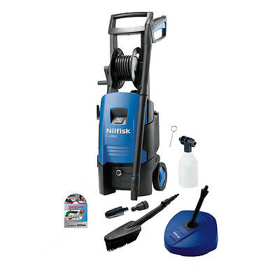 Nilfisk C130.1-6 X-tra Pressure Washer with Compact Patio Cleaner & Wash Bru