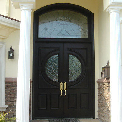 "Stunning Hand-Crafted Solid Wood Doors 76"" X 126"""