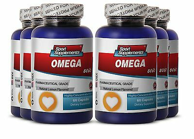 Krill Oil 1000 - Fish Oil Omega-3-6-9 3000mg - Highly Concentrated Fish Oil  6B