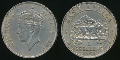 East Africa, British Colonies, 1950 Shilling, George VI - good Fine