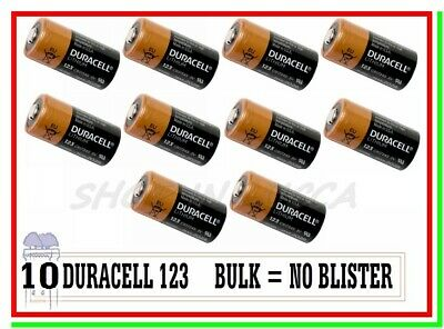 "10 DURACELL 123 Litio CR17345 Batterie Pile Softair Drone Allarme Sensore ""BULK"""