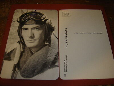 Wwii Gregory Peck Twelve O'clock High   Photo Postcard