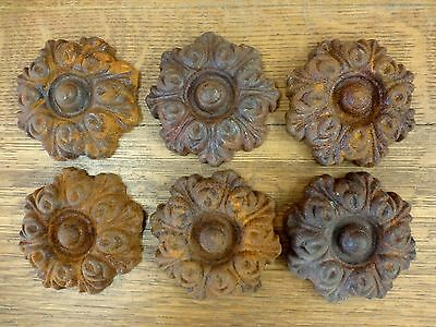 6 RUSTY BROWN DECORATIVE CAST IRON EMBELLISHMENT garden gate door fence rusty