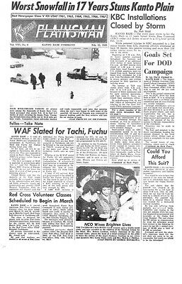 Tachikawa Air Base DVD Newspaper Collection Jan1966-Dec1969  = 2246 pages