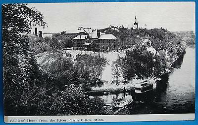 Soldiers Home Mississip River Twin Cities MN Souvenir Photo Print Postcard 1900s