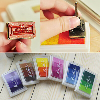 Oil Based Multi Colour Ink Pad For Rubber Stamps Paper Wood Craft Fabric DIY SS