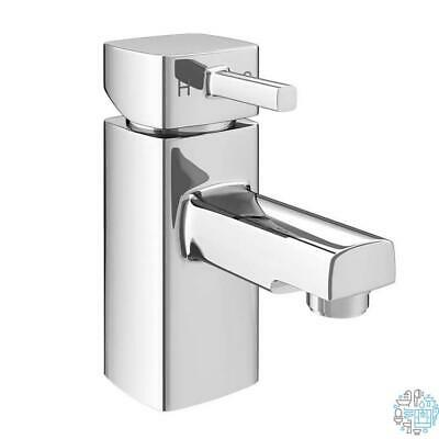 VeeBath Oldham Soft Square Bathroom Sink Mono Basin Mixer Tap Faucet with Waste