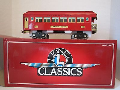 Lionel Classics 6-13402 Observation Car# 325 Standard Very Good Condition O.b.