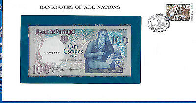 Banknotes of All Nations Portugal 100 Escudo 1980 P 178a.4 UNC Prefix FG Mestre