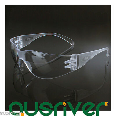 3M 11228 Protective Eyewear Transparent Frame Clear Uncoated Lens Goggles Safety