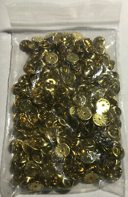 50 Pin Back Clasps butterfly clutch brass new condition frogs keeper