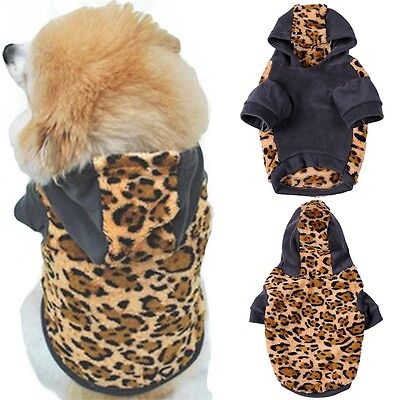 Dog Cat Warm Coat Jacket Pet Jumper Clothes Apparel Puppy Hoodie Costume XS-XL