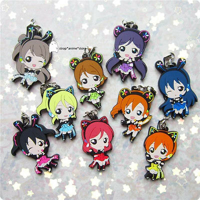 Love Live Anime Rubber Keychain Strap Charm 1 pcs Phone Game Limited Ver